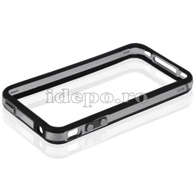 Bumper iPhone 4,4S <br> F-Design Black <br> Accesorii iPhone