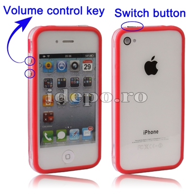 Bumper iPhone 4,4S <br> F-Design Red<br> Accesorii iPhone