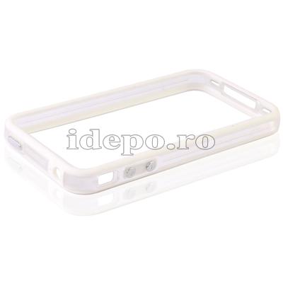 Bumper iPhone 4,4S <br>  F-Design Clear <br> Accesorii iPhone 4S