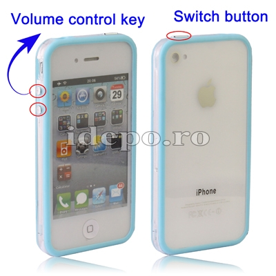 Bumper iPhone 4,4S <br> F-Design Blue<br> Accesorii iPhone