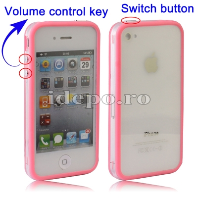 Bumper iPhone 4,4S <br>F-Design Pink<br> Accesorii iPhone