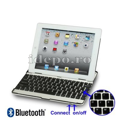 TASTATURA CU STAND<BR>BLUETOOTH 3.0<BR>IPAD 1-2-3-4 - WHITE