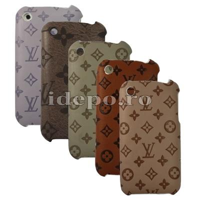 Husa iPhone 3G/GS LV Style cu piele Accesorii iPhone