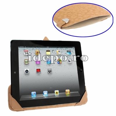 Husa iPad 4, iPad 3 <br>  Rovere Exclusive - Brown <br>  Functie de hibernare
