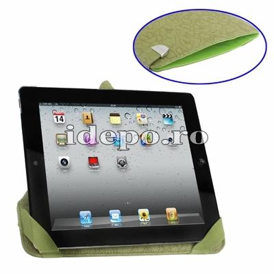 Husa iPad 4, iPad 3<br> Rovere Exclusive - Green <br>  Functie de hibernare