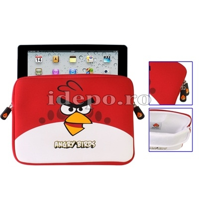 Husa iPad 9.7 INCH <br> IPAD, IPAD 2-3-4 <BR> Angry Birds - Red