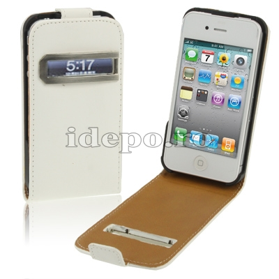 Husa iPhone 4S, 4   <br> Table Talk White <br>Caller ID