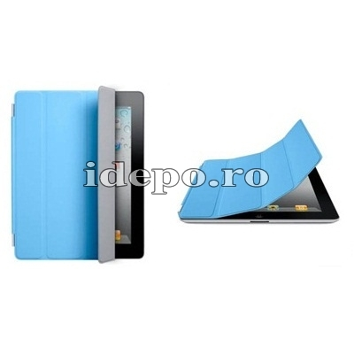 Husa iPad 3, iPad 4 <br> Apple Smart Cover Blue<br> Functie hibernare