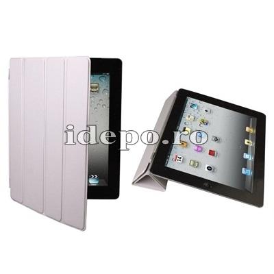 Husa iPad 3, iPad 4 <br> Smart  Cover - Grey <br> Functie hibernare