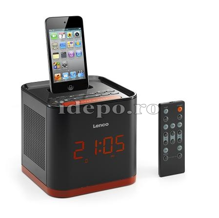 Lenco iPD-4800<br> Dual Zone Clock&Alarm<br> Sistem audio iPhone, iPod
