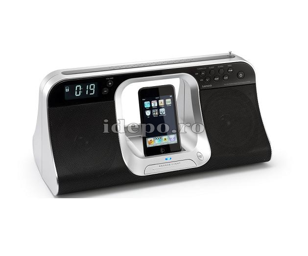 Lenco iPD-5100<br> Dual Zone Clock&Alarm<br> Sistem audio iPhone, iPod
