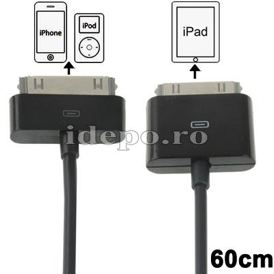 Cablu conectare iPad - iPhone/iPod<br> Accesorii iPad