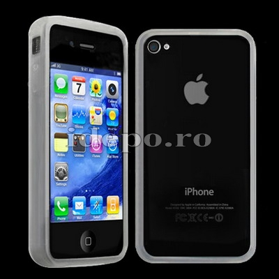 Bumper iPhone 4, 4S <br>Hybrid Transparent<br> Accesorii iPhone 4S