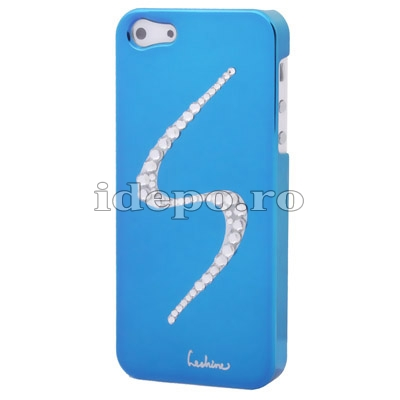 Husa iPhone 5S, 5 <br> Diamonds S Blue <br> Accesorii iPhone 5