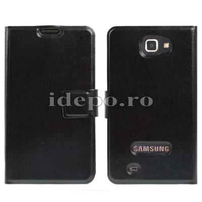 Husa Samsung Galaxy Note <br> Table Talk Piele<br> Accesorii Samsung Galaxy Note