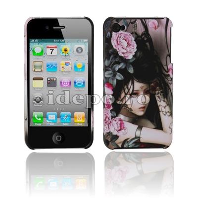 Husa iPhone 4, 4S <br> Rose<br> Accesorii iPhone 4S