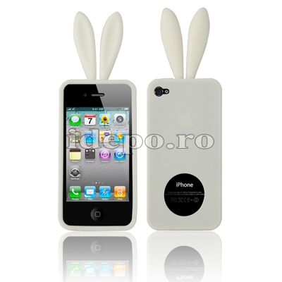 Husa iPhone 4,4S <br> Rabito White<br> Accesorii iPhone 4S