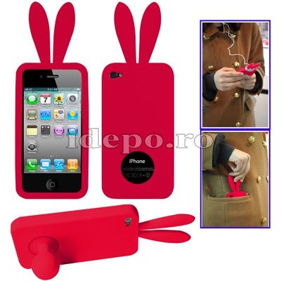 Husa iPhone 4, 4S <br>Rabito Red<br> Accesorii iPad