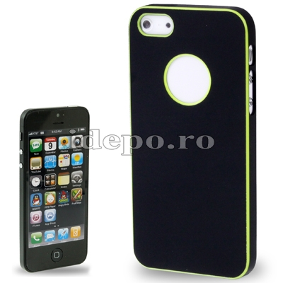 Husa iPhone 5S, 5 <br> Duo Shield Black<br> Accesorii iPhone 5, 5S