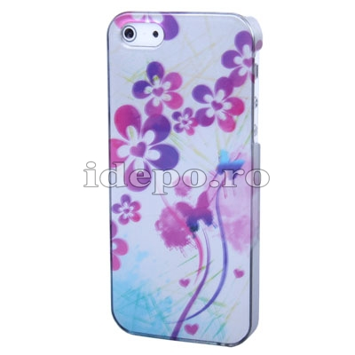 Husa iPhone 5S, 5 <br>  Sun Flowers White <br> Accesorii iPhone 5S, 5
