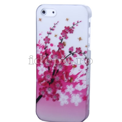 Husa iPhone 5, 5S <br> Sun Flowers White<br> Huse iPhone 5S, 5