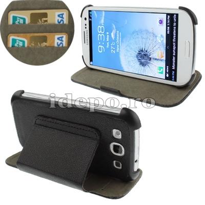 Husa Galaxy S3 I9300Sun Exclusive Black Accesorii Galaxy S3