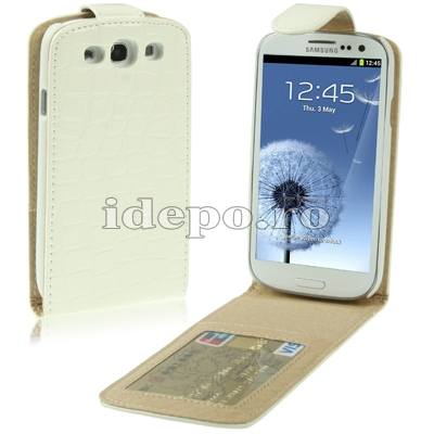 Husa Samsung Galaxy S3 I9300<br>Sun Aligator White<br> Accesorii Samsung Galaxy S3