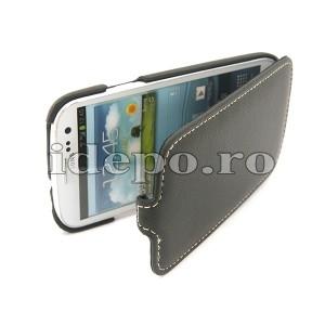 Husa Samsung Galaxy S3 I9300<br> Melko Jacka Black<br> Luxury Hand Made