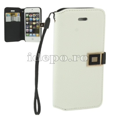 Husa iPhone 5, 5S <br>  Sun OMO White<br> Accesorii iPhone 5S, 5