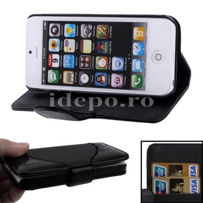 Husa iPhone 5S, 5 <br>  Sun Aligator Black<br> Accesorii iPhone 5S, 5