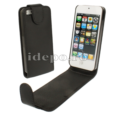 Husa iPhone 5S, 5 <br>  Sun Vision Black<br> Accesorii iPhone 5S, 5