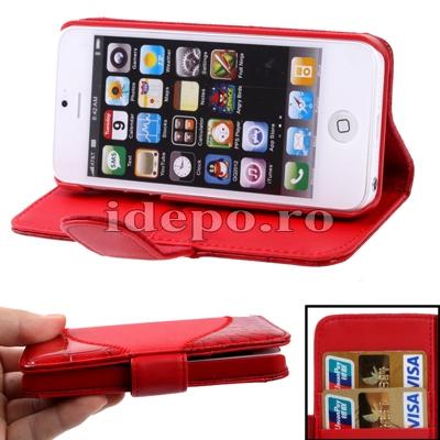 Husa iPhone 5S, 5 <br>  Sun Aligator Red <br> Accesorii iPhone 5S, 5