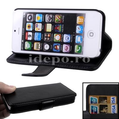 Husa iPhone 5S, 5 <br>  Sun Valeo Black <br> Accesorii iPhone 5S, 5