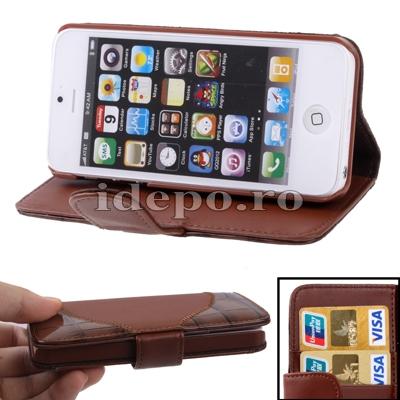 Husa iPhone 5, 5S <br>  Sun Aligator Brown <br> Accesorii iPhone 5S, 5