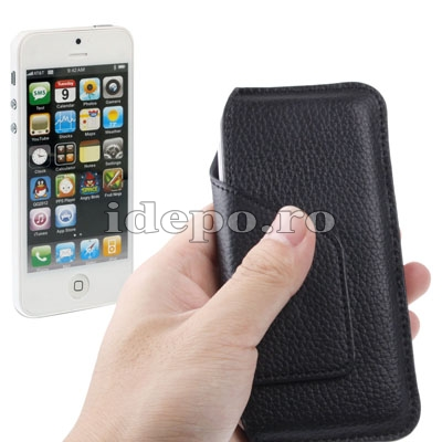 Husa iPhone 5S, 5 <br>  Sun Dynamics Leather <br> Accesorii iPhone 5S, 5