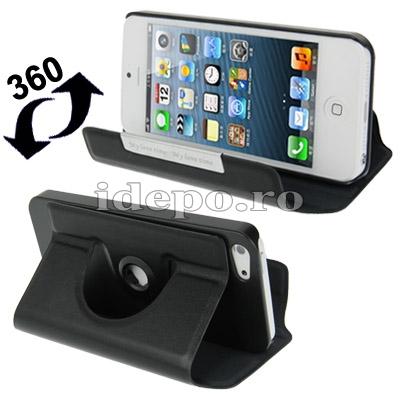 Husa iPhone 5, 5S, 5SE <br>  Sun R-360 Black <br> Accesorii iPhone 5, SE, 5S, 5