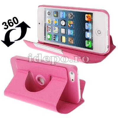 Husa iPhone 5, 5S, 5SE <br>  Sun R-360 Pink <br> Accesorii iPhone 5, SE, 5S, 5