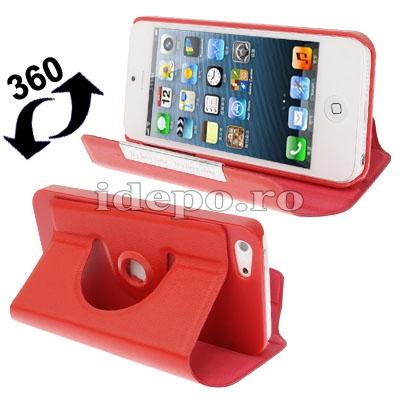 Husa iPhone 5, 5S, 5SE <br>  Sun R-360 Red <br> Accesorii iPhone 5, SE, 5S, 5