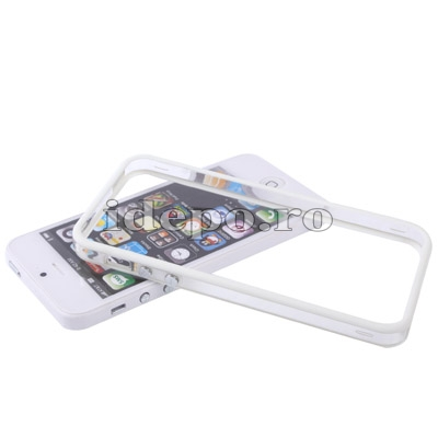 Bumper silicon iPhone 5S, 5 <br>Duo White<br> Accesorii iPhone 5S, 5