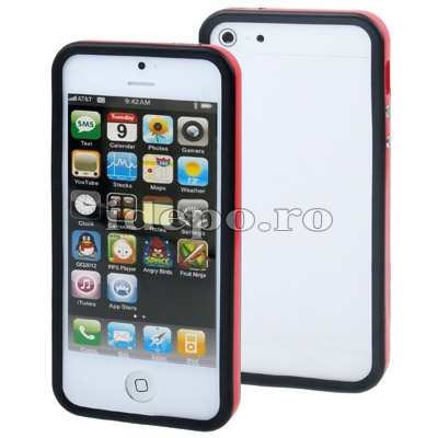 Bumper silicon iPhone 5S, 5 <br> Duo Ferrari<br> Accesorii iPhone 5S, 5