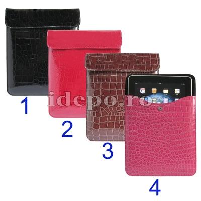 Husa iPad4, iPad 3 <br> Sun Crocodile Leather <br> Accesorii iPad