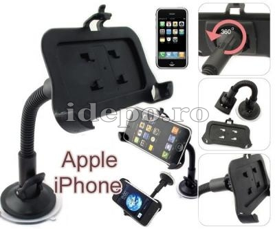 CAR KIT CU VENTUZA<BR>SUPORT UNIVERSAL<BR> IPHONE 3G/GS