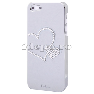 Husa iPhone 5S, 5 <br>  Diamonds White<br> Accesorii iPhone 5