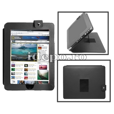 Husa iPad 4, iPad 3 <br> Sun iStand Piele <br> ! Mici defecte optice !