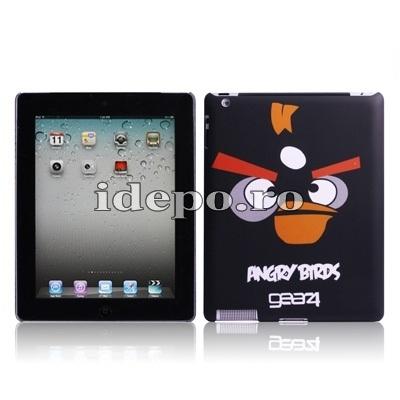 Husa  iPad 4, iPad 3<br> Angry Birds Black<br> Accesorii iPad