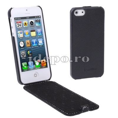 Husa iPhone 5S, 5 <br> Melko Jacka Black<br> Accesorii iPhone 5
