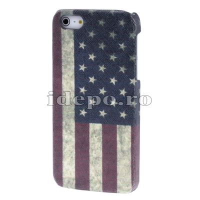Husa iPhone 5S, 5 <br>Sun USA Retro<br> Accesorii  iPhone 5S, 5