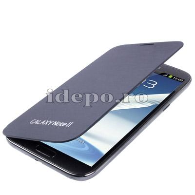 Husa Samsung Galaxy Note 2 N7100, N7110 + Carcasa spate    Samsung Original Indigo
