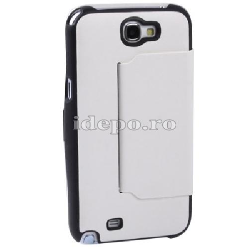 Husa Samsung Galaxy Note 2 N7100, N7110<br>  Sun Business White