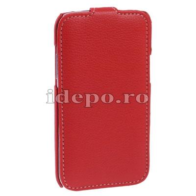 Husa Samsung Galaxy Note 2 N7100, 7110<br> Melko Jacka Leather Red